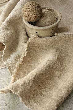 Wonderful old linen from Europe ~ homespun , natural , organic hemp ~ Lovely durable , antique fabric ~ www.textiletrunk.com