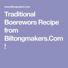 Boerewors is a typical South African as Biltong and Braai (BBQ) Farmer Sausage, Biltong, South African Recipes, How To Make Sausage, Bbq, Traditional, Gold Crown, Food, Projects