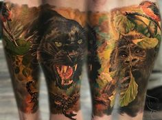 Laura Juan - Spanish tattoo artist, bringing the concept of detailed tattoo to a new level! Animal Crafts For Kids, Animals For Kids, Spanish Tattoos, Live Tattoo, Detailed Tattoo, Animal Sketches, Photorealism, Animal Quotes, Color Portrait