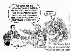 This cartoon shows that the Native Americans aren't even treated as if they were here first anymore.  Many Americans have forgotten the past and only look forward filled with naivety.