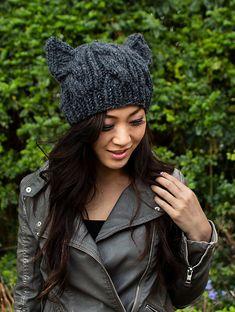Ravelry: Cabled Cat Ears Hat pattern by Lorna Watt