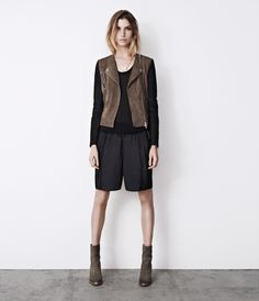 Oracle Leather Biker Jacket, Women, Leather, AllSaints Spitalfields