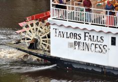 One of the best things to do in Taylors Falls is take a tour of the St. Croix on an old-fashioned paddlewheel boat. Tours cost $18.99 for adults and leave four times each day.