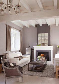 Stebbing House Desing: Salones con chimenea..