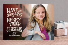 A Little Merry Christmas Holiday Photo Cards by Dawn Jasper at minted.com