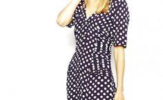 Cutie Pleated Polka Dot Dress Black And White