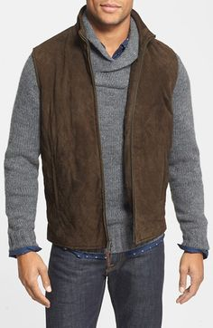 Golden Bear Diamond Quilted Suede Vest available at #Nordstrom