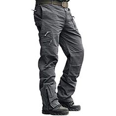 New CRYSULLY Men's Cotton Multi-Pockets Work Pants Tactical Outdoor Military Army Cargo Pants (No Belt) online shopping - Alltrendytop Army Cargo Pants, Combat Pants, Military Pants, Military Army, Mens Work Pants, Mens Trousers Casual, Men Casual, Men Pants, Camo Pants