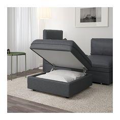 VALLENTUNA Sittemodul med oppbevaring - Hillared mørk grå - IKEA
