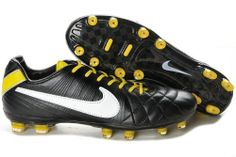 Nike Tiempo Legend IV Elite FG Firm Ground black white yellow! Only   89.90USD Zapatos 810f76ab8d4f9