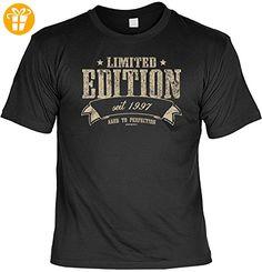 Cooles T-Shirt zum 20 Geburtstag : Limited / Limited Edition seit 1997 - Geschenk 20.Geburtstag Gr: L Farbe: schwarz - Shirts zum geburtstag (*Partner-Link)