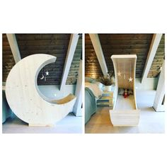Feather light on starry night, cosy warm and tired, pleasant dreams and sweetest thoughts as little angels smile. Our Moon Cot Cradle will form the focal point of your nursery. With beautifully curved lines that are crowned with decorative stars, the Moon Cot will turn your nursery into the