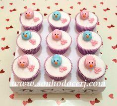 Cupcakes Passarinhos! curta nossa página no Facebook: www.facebook.com/sonhodocerj