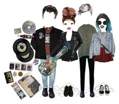 """""""Meet The Band (ty for 200 followerss!!)"""" by wonders-of-astra ❤ liked on Polyvore featuring Dr. Martens, Zara, American Apparel, Monki, H&M, Vans and Carlton"""