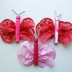 Valentine butterflies that are easy for kids to make