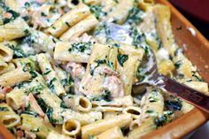 making this for dinner!!  - Grilled Chicken Rigatoni Florentine via Patio Daddio BBQ