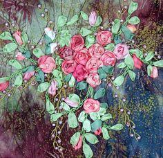 I ❤ ribbonwork . . . Wild Roses Detail ~By shelleyswanland