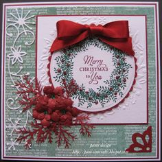 pamscrafts: Traditional Christmas card