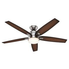 169 hunter 52 in allegheny new bronze outdoor ceiling fan with hunter fan windemere 5 blade ceiling fan with remote aloadofball Images