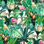 SCHUMACHER EXOTIC JACOBEAN TREE OF LIFE LINEN FABRIC 10 YARDS GREEN FERN MULTI | eBay Striped Upholstery Fabric, Brocade Fabric, Drapery Fabric, Linen Fabric, Sofa Bed Green, Jacobean, Schumacher, Orange Flowers, Bird Prints