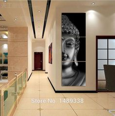 3 Panel Modern Buddha Print Painting Picture On Canvas Living Room Decor Landscape Painting With HD Art Picture No Frame