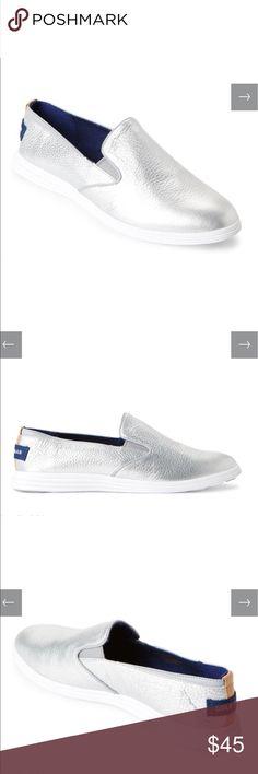 Cole Haan Ella Grand Silver Slip on Sneaker
