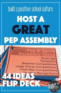 Pep and Spirit Assembly Idea Flip Deck Student Council Activities, High School Activities, Student Council Ideas, Exercise Activities, Group Activities, School Resources, Classroom Activities, Teacher Resources, Leadership Classes