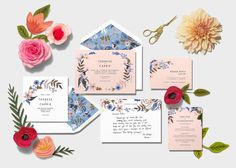 A First Look at Rifle Paper Co.'s Beautiful Wedding Invitations for Paperless Post