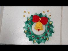 Vídeo aula Guirlanda em crochê - especial de natal - parte 2/2 | BYA FERREIRA - YouTube
