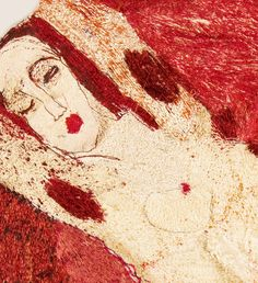 Tranquil Figure by Alice Kettle www.embroiderersguild.com I just love the intensity of her work!!