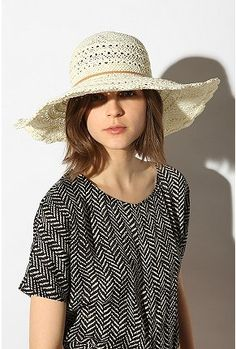 floppy straw hat $39.00