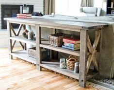 Build This Easy Fun DIY Rustic X Console | Woodworking Session