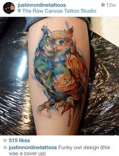 Justin Nordine Watercolor tattoo