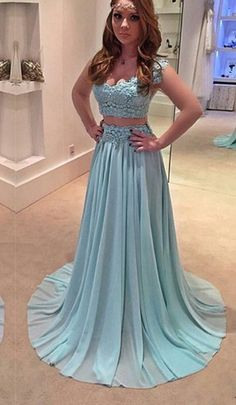 Light Blue Prom Dress,New Prom Pieces Prom Dresses,Chiffon Evening Piece Evening Gown,lace Prom Gowns,cap Sleeves Prom Dress Orange Prom Dresses, Grad Dresses Long, Prom Dresses 2017, Cheap Prom Dresses, Prom Gowns, Party Dresses, Lace Prom Gown, Lace Evening Gowns, Lace Dress