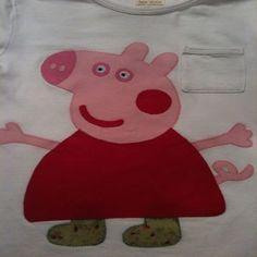 Camiseta Peppa Pig. Hecha a Mano. Para peques.