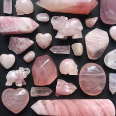 "#Crystals via Midnight Aura Crystals LLC (@midnightauracrystals) on Instagram: ""We have Rose Quartz beauties in all shapes and sizes available!"