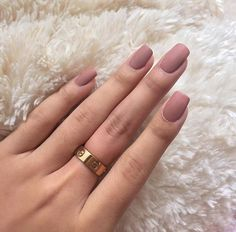Matte pink nails More