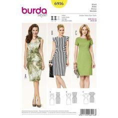 Burda 6916 Women's Dress 8 - 18