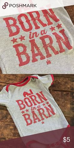 International Harvester onesie. Super cute onesie, in great shape. The distressing in the letters is supposed to be there, they aren't cracking. Size 12 months! Happy shopping! Shirts & Tops Tees - Short Sleeve