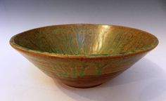 Terracotta bowl with California dreaming by MarkCampbellCeramics, $40.00 As seen in the September issue of This Old House Magazine!