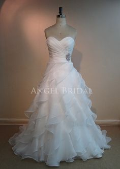 Court Train  Ivory  Organza    Wedding dress by AngelBridal, $260.00  I want this