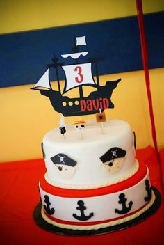 Pirate Birthday Party, Pirate Cake Topper, Pirate Cake Decoration