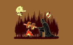 Darth Vader barbeque wallpaper