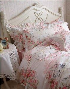 Amazon.com: Shabby and Elegant New Pink Cotton 4pc Bedding Duvet Cover Set-king: Home & Kitchen