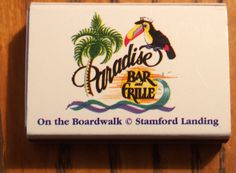 Paradise Bar & Grille - #matchbox - To order your business' own branded #matchboxes and #matchbooks, go to www.GetMatches.com or call 800.605.7331 today!