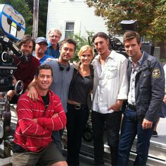 The cast of Haven on the last day of filming (courtesy Eric Balfour)