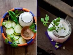 Cold Spiced Buttermilk Drink with Cucumber
