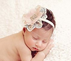 Vintage lace mauve dainty headband for by ChiCrystalsBoutique, $23.95