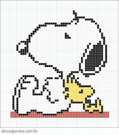 Snoopy - Great templates for minecraft designs Beaded Cross Stitch, Cross Stitch Embroidery, Embroidery Patterns, Beaded Snoopy, Cross Stitch Designs, Cross Stitch Patterns, Snoopy And Woodstock, Cross Stitch Animals, Tapestry Crochet