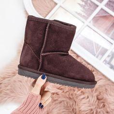 Cizme copii Piele Meliora maro imblanite Ugg Boots, Uggs, Casual, Shoes, Fashion, Moda, Zapatos, Shoes Outlet, Fashion Styles